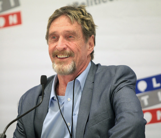 John McAfee Wants an Era of Decentralized Politics